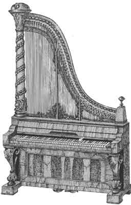 piano harpe illustration